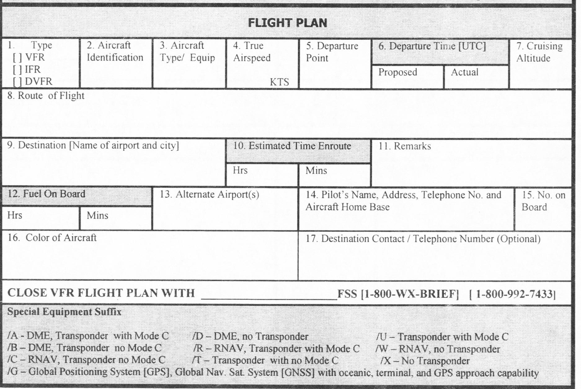11 Best Images of Flight Planning Worksheet - Flight ...